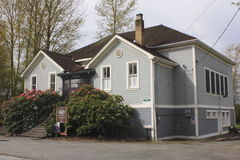 Clayburn historische Schule Lizenzfreies Stockfoto