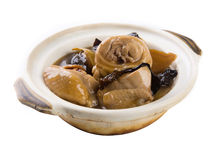 Claypot chicken and auricularia chinese style Royalty Free Stock Photography