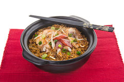 Claypot chicken rice. asia food Stock Photography