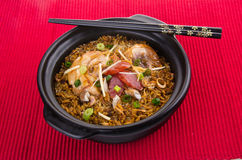 Claypot chicken rice. asia food Stock Image
