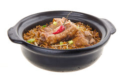 Claypot pork rice. asia food Stock Photo