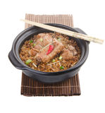 Claypot pork rice. asia food Royalty Free Stock Photos