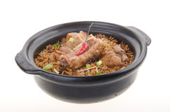 Claypot pork rice. asia food Royalty Free Stock Images