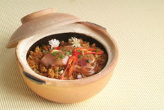 Claypot Reis Lizenzfreies Stockfoto