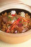 Claypot rice Stock Image