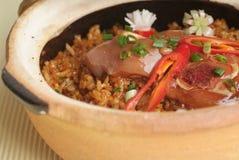 Claypot rice Stock Images