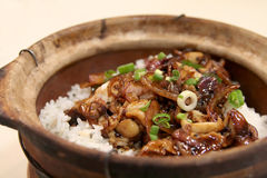 Claypot rice Royalty Free Stock Images