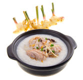 Claypot traditional chinese porridge with chickeni Royalty Free Stock Photo