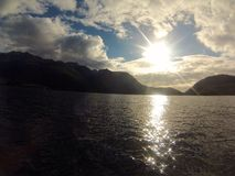 Sun over Clayquot Sound Royalty Free Stock Photography