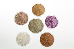 Clays cosmetic palette for SPA and Body treatment Royalty Free Stock Photo
