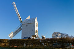 CLAYTON, EAST SUSSEX/UK - JANUARY 3 : Jack and Jill Windmills on Royalty Free Stock Photos