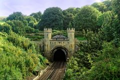 Clayton Railway Tunnel Fotografia Stock