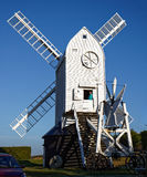 CLAYTON, SUSSEX/UK EST - 3 JANVIER : Jill Windmill sur un winter Photos stock