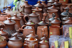Clayware on the market Royalty Free Stock Photography