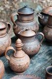 Claywarewaterkruiken Royalty-vrije Stock Afbeeldingen