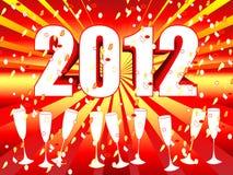 célébration 2012 de champagne de rayon de soleil Images libres de droits