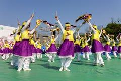 Célébration coréenne pour allumer le festival de lanterne Photos stock
