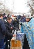 Célébration d'épiphanie à Kiev, Ukraine Photographie stock libre de droits