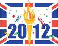 Célébration de Jeux Olympiques de Londres 2012 Image libre de droits