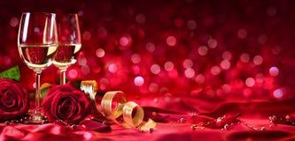 Célébration romantique de jour de valentines Photo libre de droits