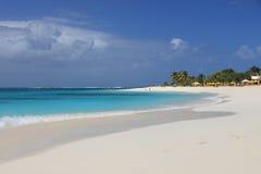 clean öde sandigt för strand Fotografering för Bildbyråer