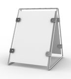 Clean advertising board on white background Royalty Free Stock Photo