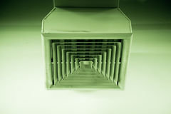 Clean Air Duct with color tone Royalty Free Stock Photography