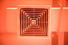 Clean Air Duct with color tone Stock Images