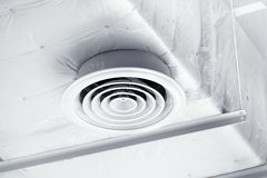 Clean Air Duct white at ceiling Stock Photography