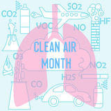 Clean air month Royalty Free Stock Photos