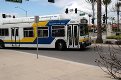 Clean Air Transit Bus. Compressed Natural Gas Powered Bus in Chula Vista California Stock Photo