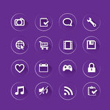 Clean app icon Stock Images