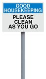 Clean As You Go Royalty Free Stock Image