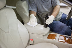 Clean_Auto_Leather_Interior Royalty Free Stock Images