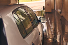 Clean automobile in car wash service interior Stock Photography