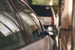 Clean automobile in car wash service interior Royalty Free Stock Photography