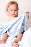 Clean baby after bath Stock Photography