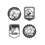 Clean it badges Stock Images