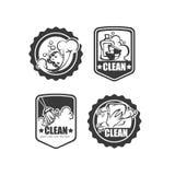 Clean it badges Stock Images