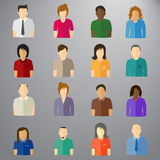 Clean based shapes `People users` Royalty Free Stock Photo