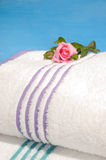 Clean bath towels ready to use Royalty Free Stock Images