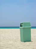 Clean beach. Garbage can at Varadero beach in Cuba helping keep the environment clean Stock Photography