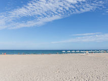 Clean beach Alicante, Costa Blanca Royalty Free Stock Images