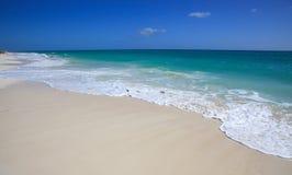 Clean beach Caribbean Sea. Playa los Cocos. Cayo Largo. Cuba Royalty Free Stock Photography