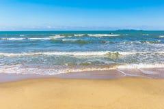 Clean beach on daylight Stock Image