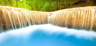 Clean and beautiful background of flowing water. Outdoor nature Stock Photos