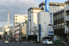 Clean and beautiful streets in a Iwakuni city Stock Image