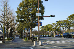 Clean and beautiful streets in Iwakuni town Stock Photo