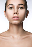Clean beauty frontal portrait Royalty Free Stock Image