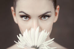 Clean Beauty Image of a Caucasian Woman Stock Photography